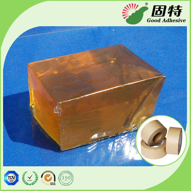 High Strength Yellowish Industrial Hot Melt Glue Semi Transparent For Kraft Paper