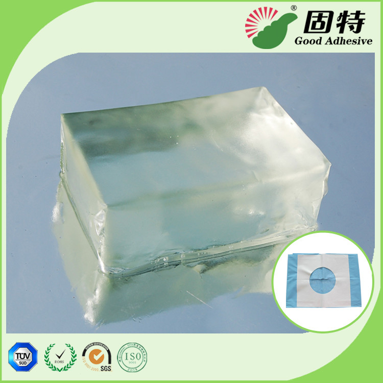 Fabric Block Industrial Hot Glue , Colorless Transparent Hot Glue Adhesive