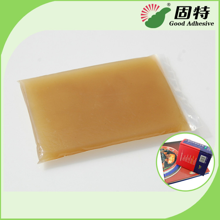 Amber Color Block Bookbinding Hot Melt Glue For Book-Facing , Cloth-Bound Edition