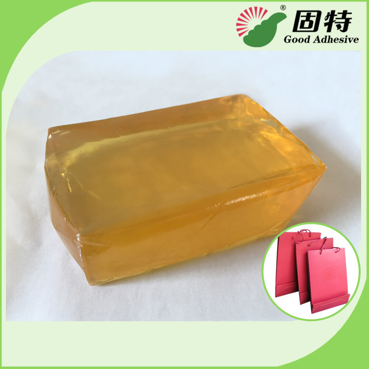 Polyolefin Light And Semi-Transparent Block Solid Hot Melt Glue For Paper Bag